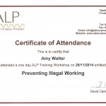 A LP Course - Right to work cert rotated